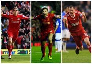 Daniel Agger Steven Gerrard Jamie Carragher Liverpool Premier League