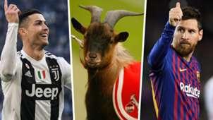 Ronaldo Messi GOAT