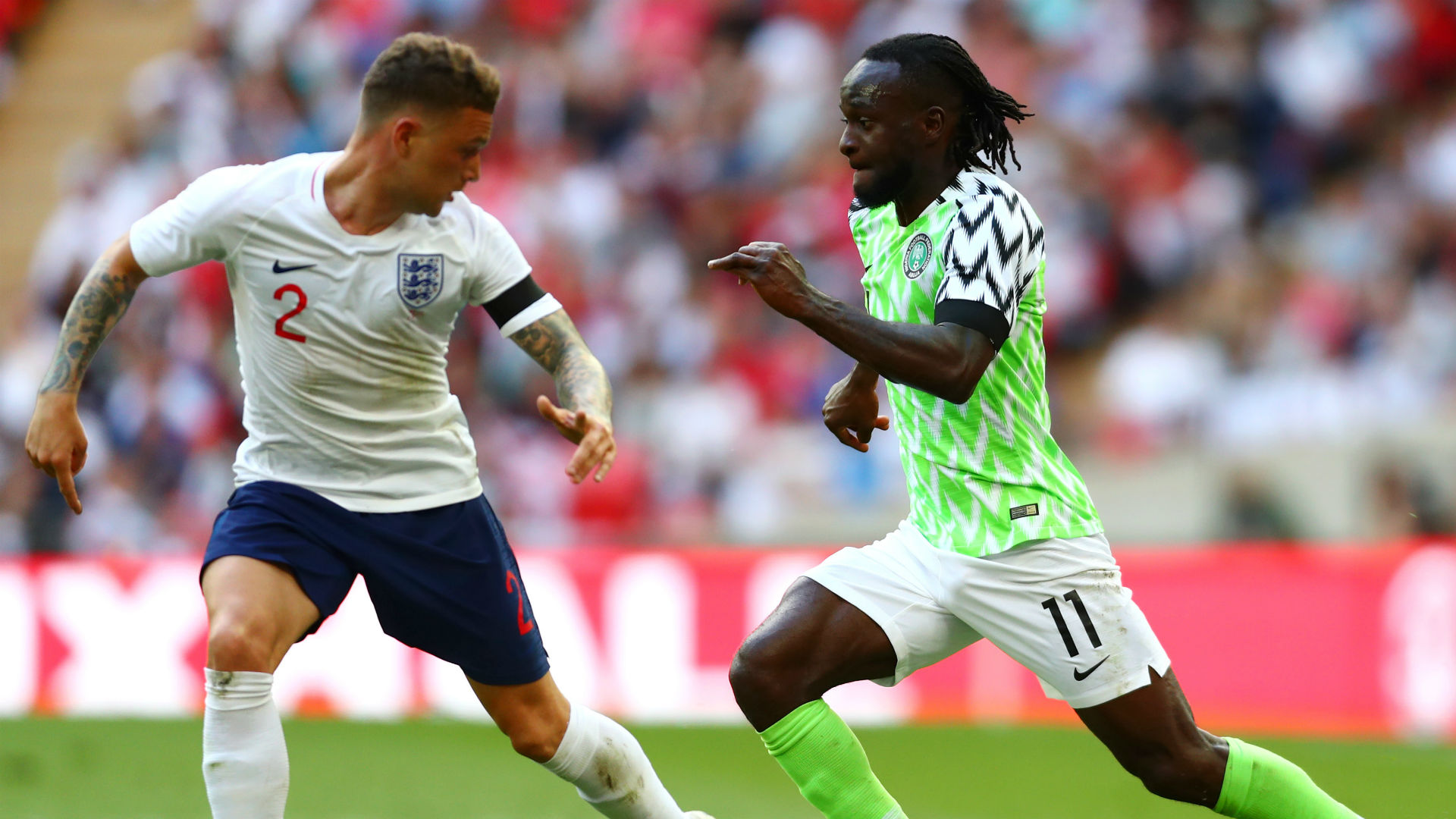 Victor Moses Kieran Trippier England Nigeria international friendly 2018