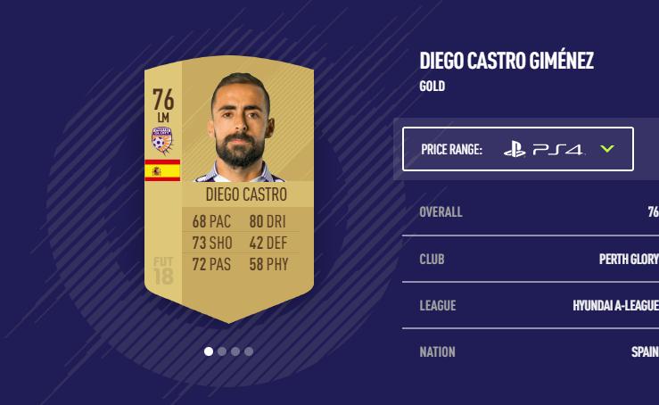 Diego Castro FIFA 18