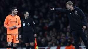 Jurgen Klopp Robertson Liverpool Arsenal