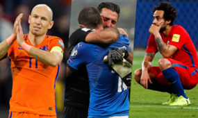 Arjen Robben Gianluigi Buffon Jorge Valdivia Holanda Italia Chile