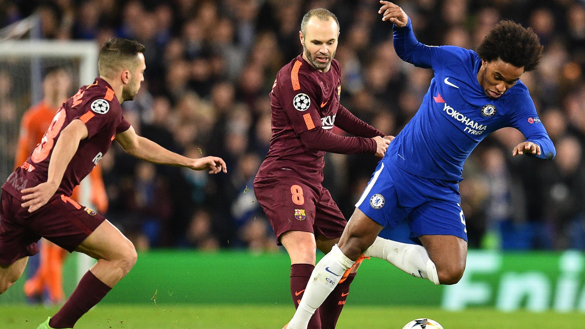 Willian Iniesta Chelsea Barcelona Champions League