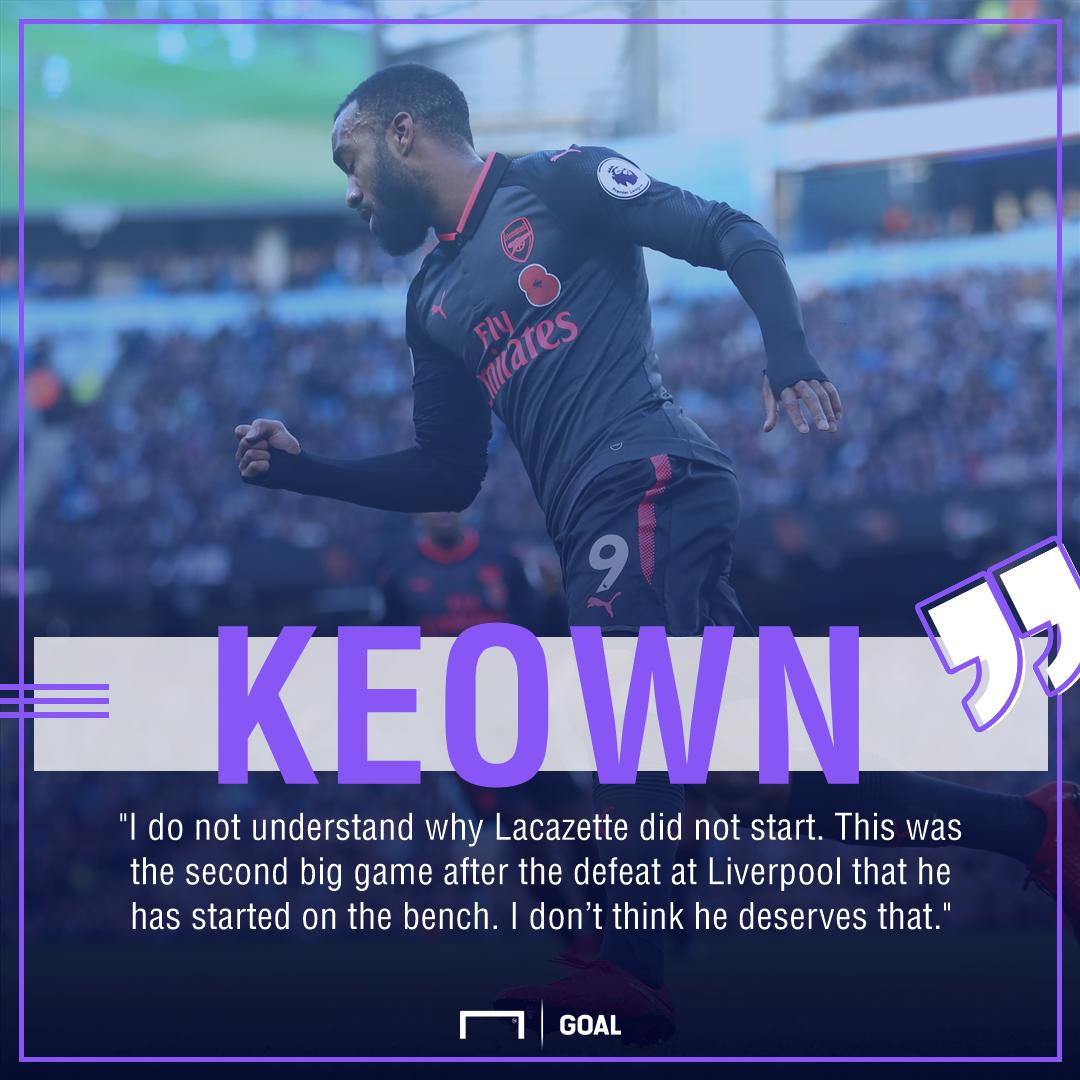 Martin Keown Alexandre Lacazette Arsenal deserves starts