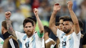 Lionel Messi Sergio Aguero Argentina 2018 World Cup