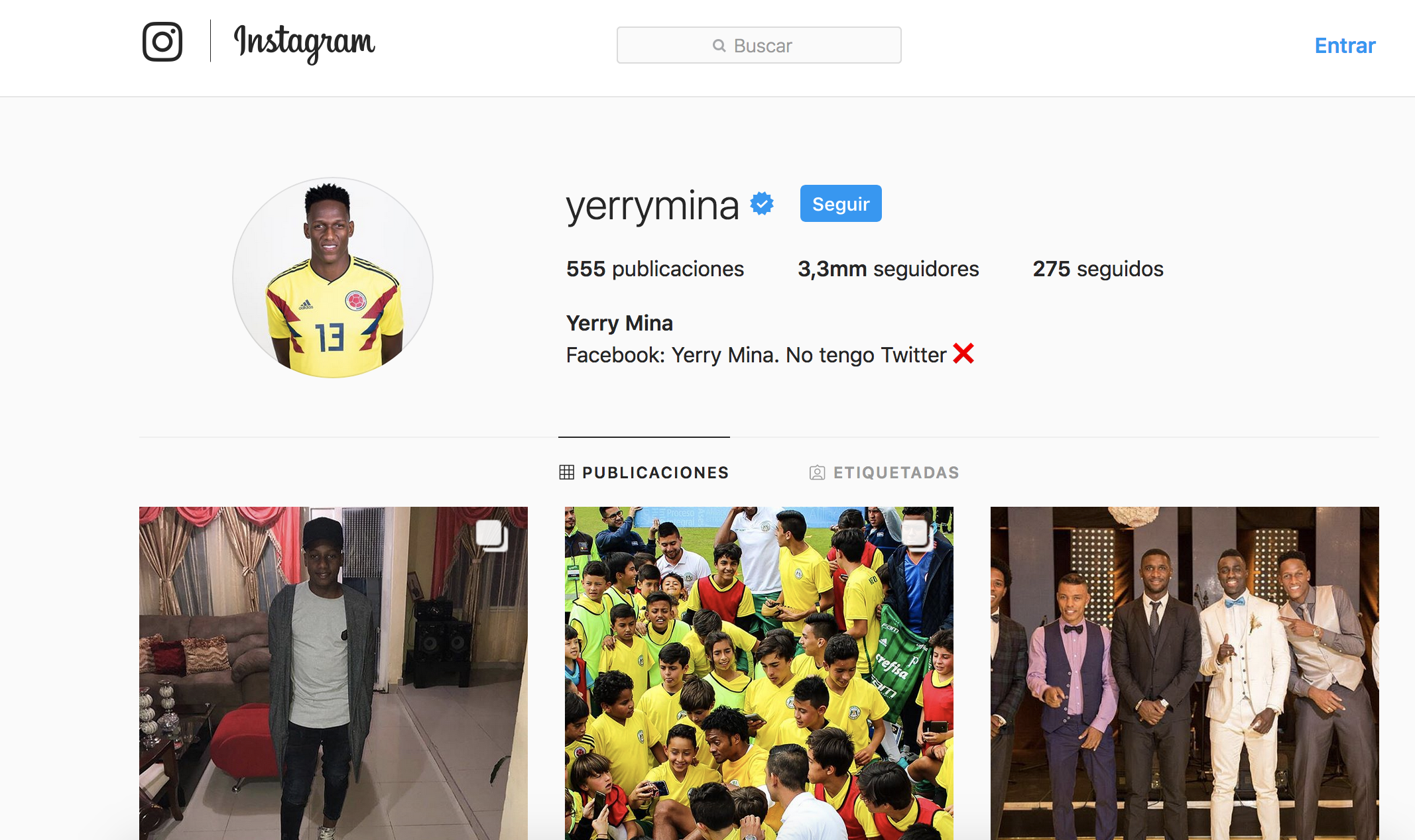 Yerry Mina Instagram
