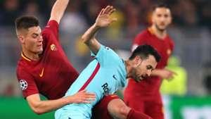 Federico Fazio Sergio Busquets Barcelona Roma Champions League