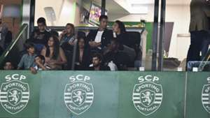 Cristiano Ronaldo Georgina Rodriguez watching Sporting CP