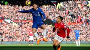 250218 Manchester United Chelsea Eden Hazard Alexis Sánchez