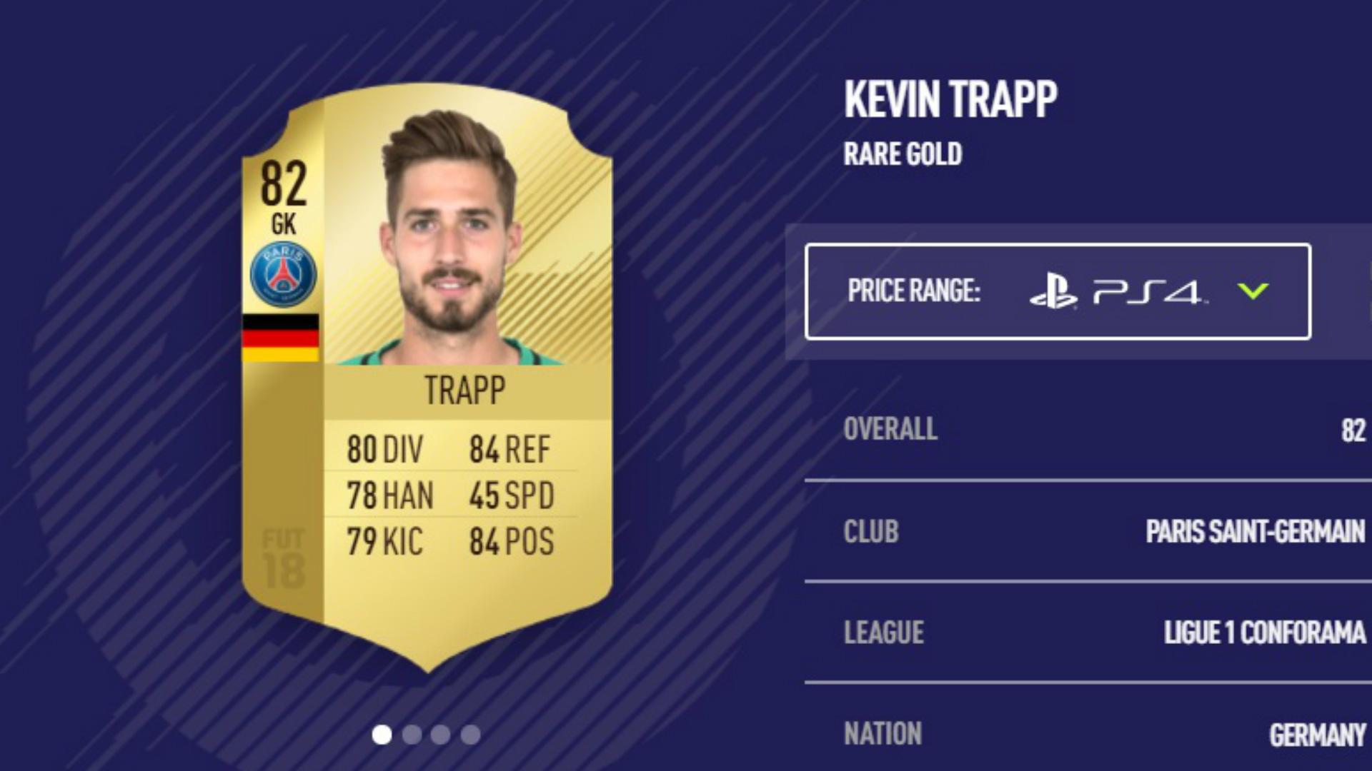 FIFA 18 Kevin Trapp