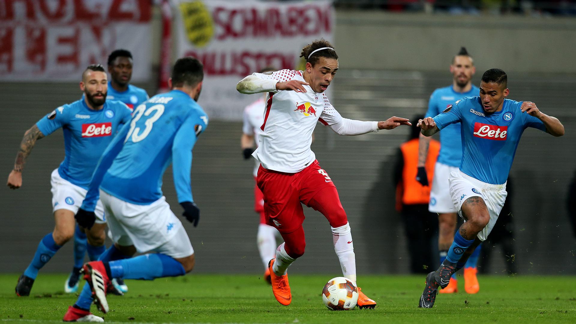 RB Leipzig Napoli Europa League Poulsen 0218