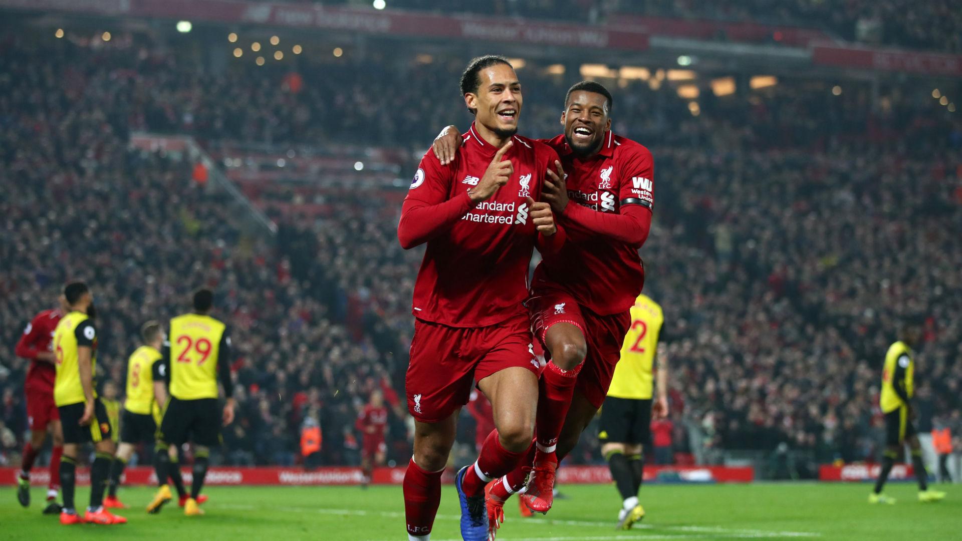 Virgil van Dijk Gini Wijnaldum Liverpool 2019