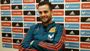 Nacho Fernández, Real Madrid and Spain player during the interview with Goal