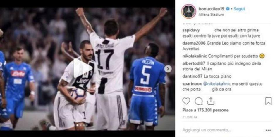 Kalinic Bonucci Instagram Screenshot