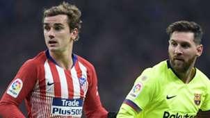 Antoine Griezmann Lionel Messi Atletico Barcelona 24112018