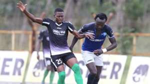 Faraj Odenyi of Chemelil Sugar and Kepha Aswani of Nakumatt FC