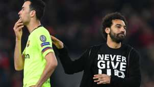 SERGIO BUSQUETS BARCELONA MOHAMED SALAH LIVERPOOL CHAMPIONS LEAGUE 07052019