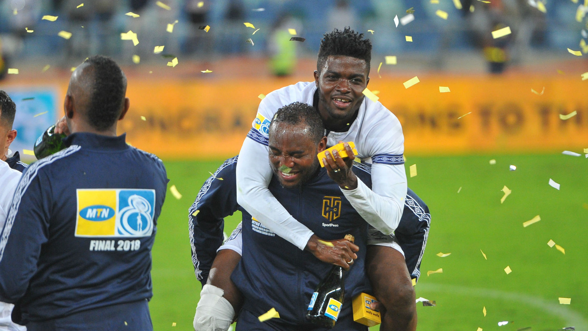 Benni McCarthy Cape Town City MTN8 celebration
