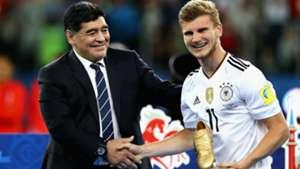 Timo Werner y Maradona Copa Confederaciones 02072017