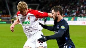 Martin Hinteregger Matthew Leckie Augsburg Hertha Berlin