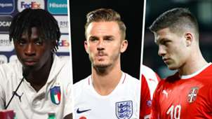 Moise Kean James Maddison LukaJovic