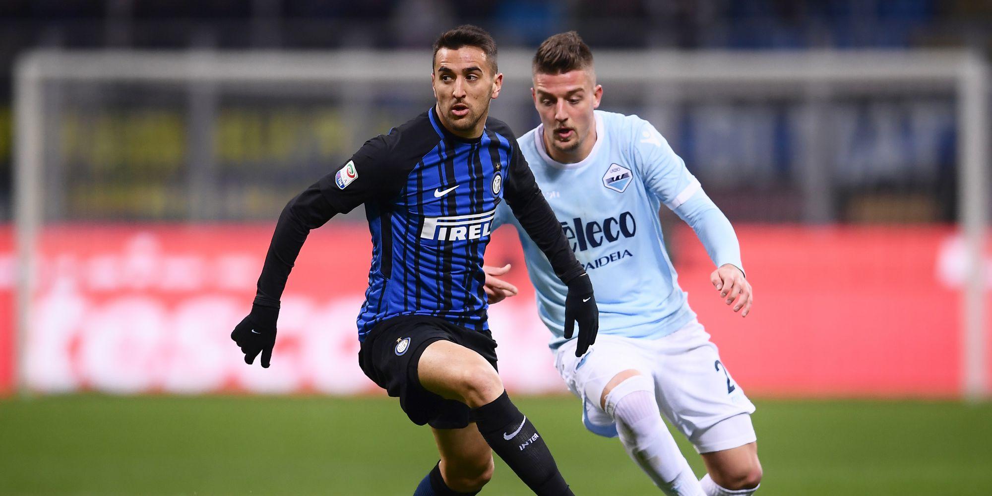 Matias Vecino Sergej Milinkovic-Savic Inter Lazio Serie A