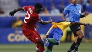 Alphonso Davies Loic Baal Canada French Guiana Gold Cup