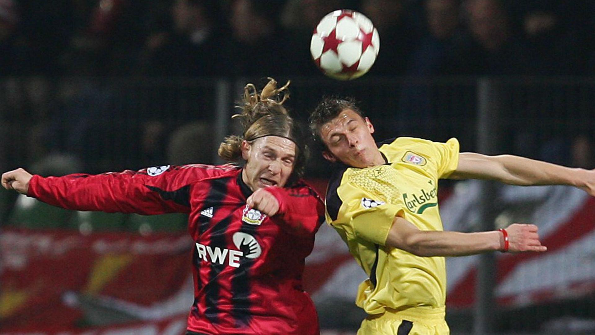 Stephen Warnock v Bayer Leverkusen