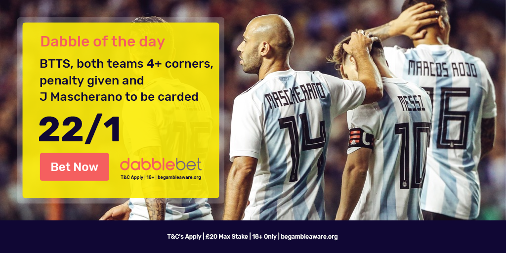 dabble of the day Argentina v Croatia