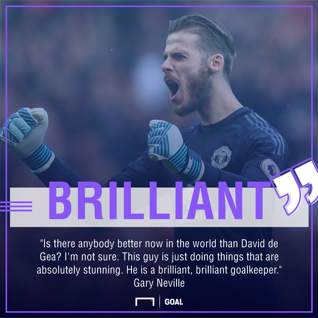 Gary Neville David de Gea Manchester United brilliant