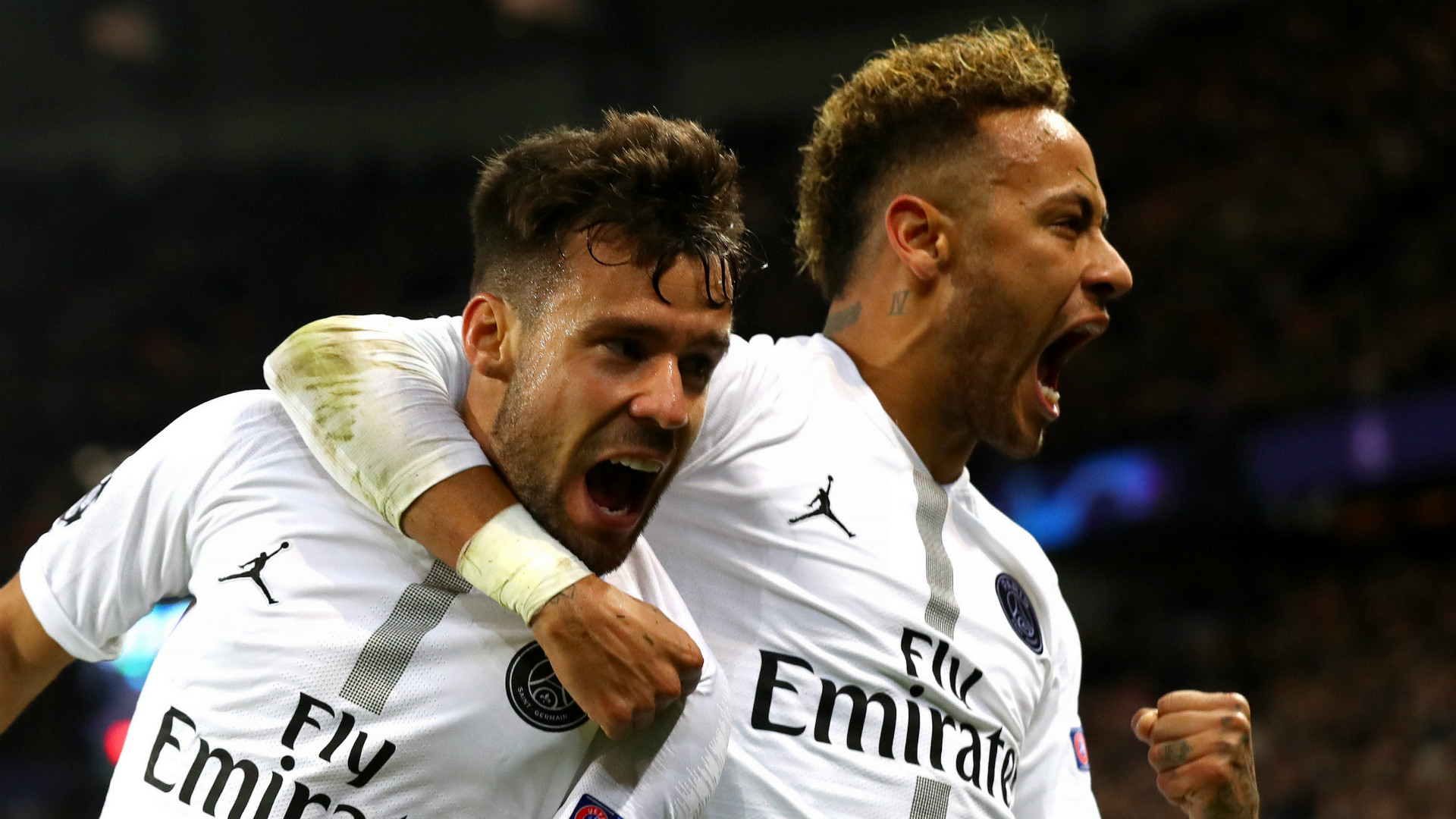 Juan Bernat Neymar PSG Paris Saint-Germain 2018-19