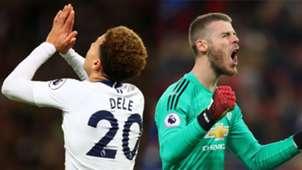 Dele Alli David de Gea Tottenham Manchester United Premier League 130119