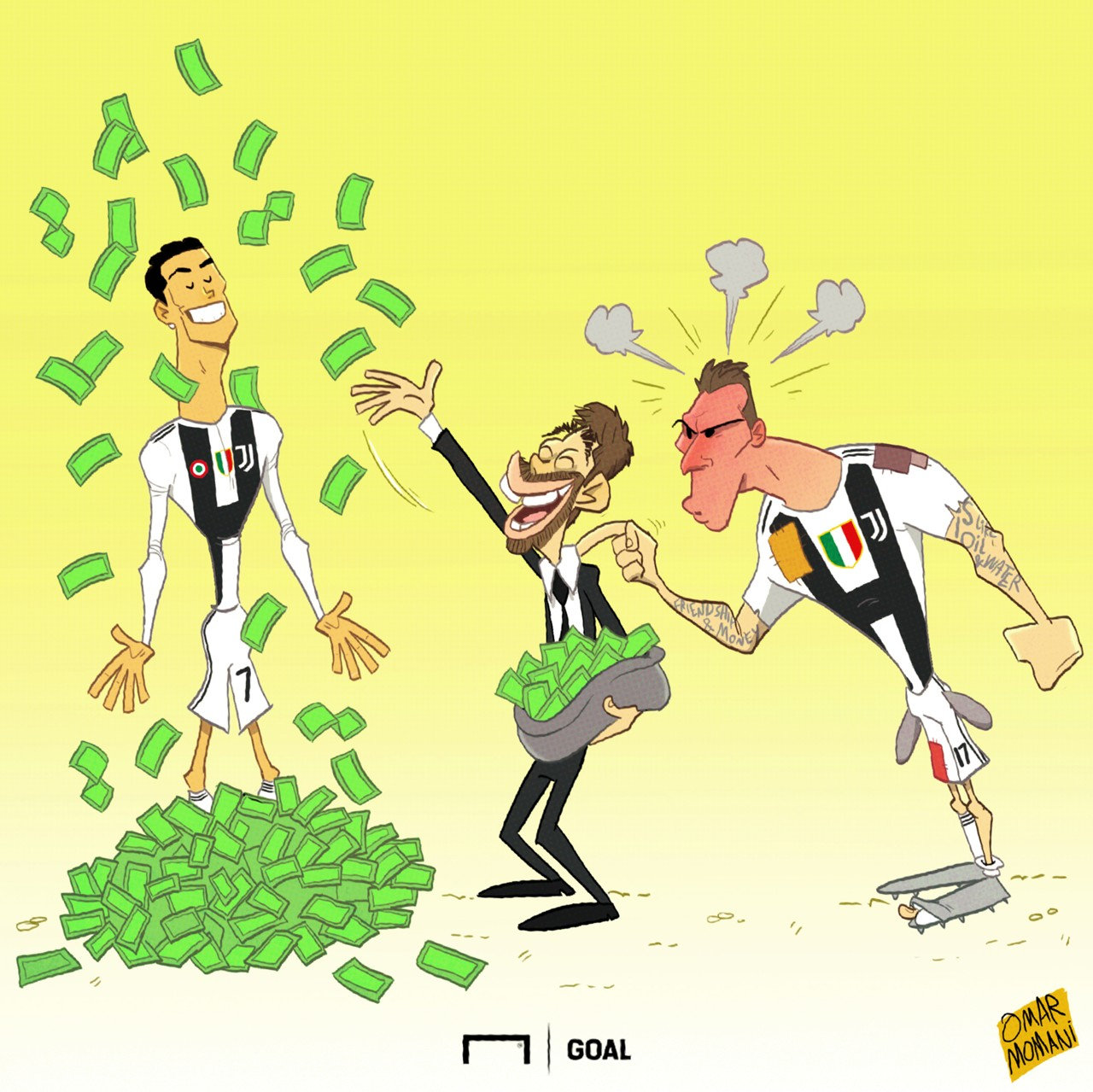 goal s cartoon corner the best football sketches from omar momani