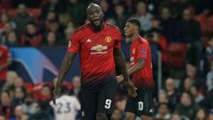 Romelu Lukaku Manchester United Valencia UEFA Champions League 02102018
