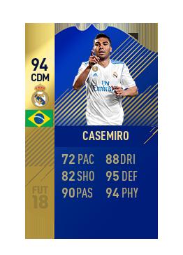 FIFA 18 La Liga Team of the Season Casemiro