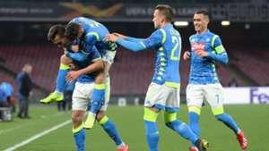 Celebrating Napoli Salzburg Europa League