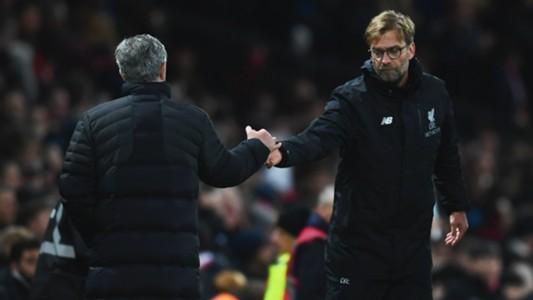 Jurgen Klopp Jose Mourinho Liverpool Manchester United