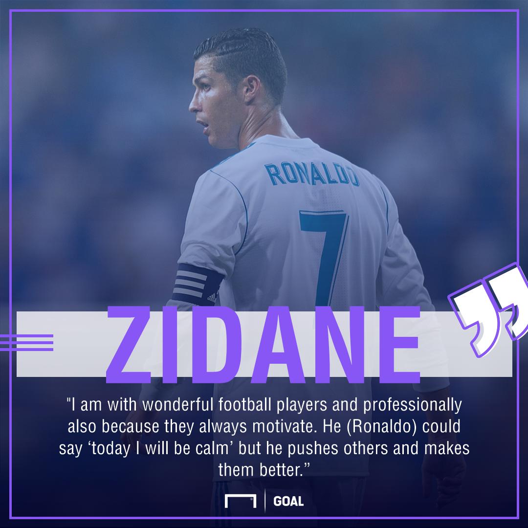 Zidane Ronaldo quote gfx