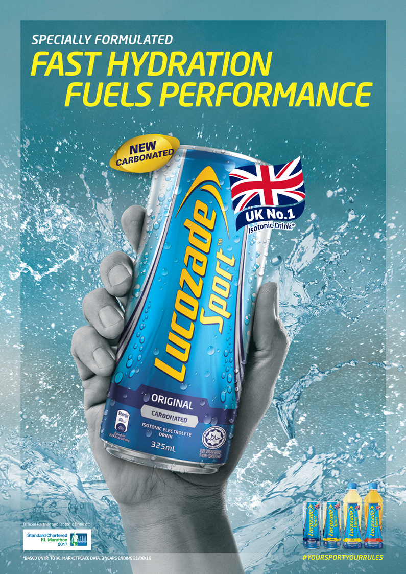 Lucozade Sport Carbonated can