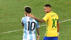 Lionel Messi Neymar Brazil Argentina 10112016
