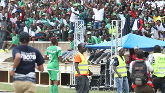 Jacques Tuyisenge of Gor Mahia v AFC Leopards.