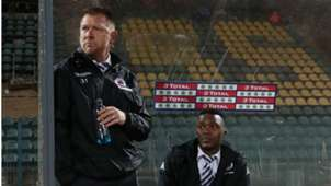 Eric Tinkler and Morgan Gould of SuperSport United