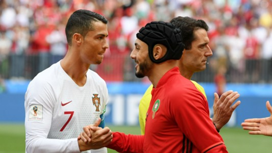 Cristiano Ronaldo Portugal Nordin Amrabat Morocco World Cup 2018
