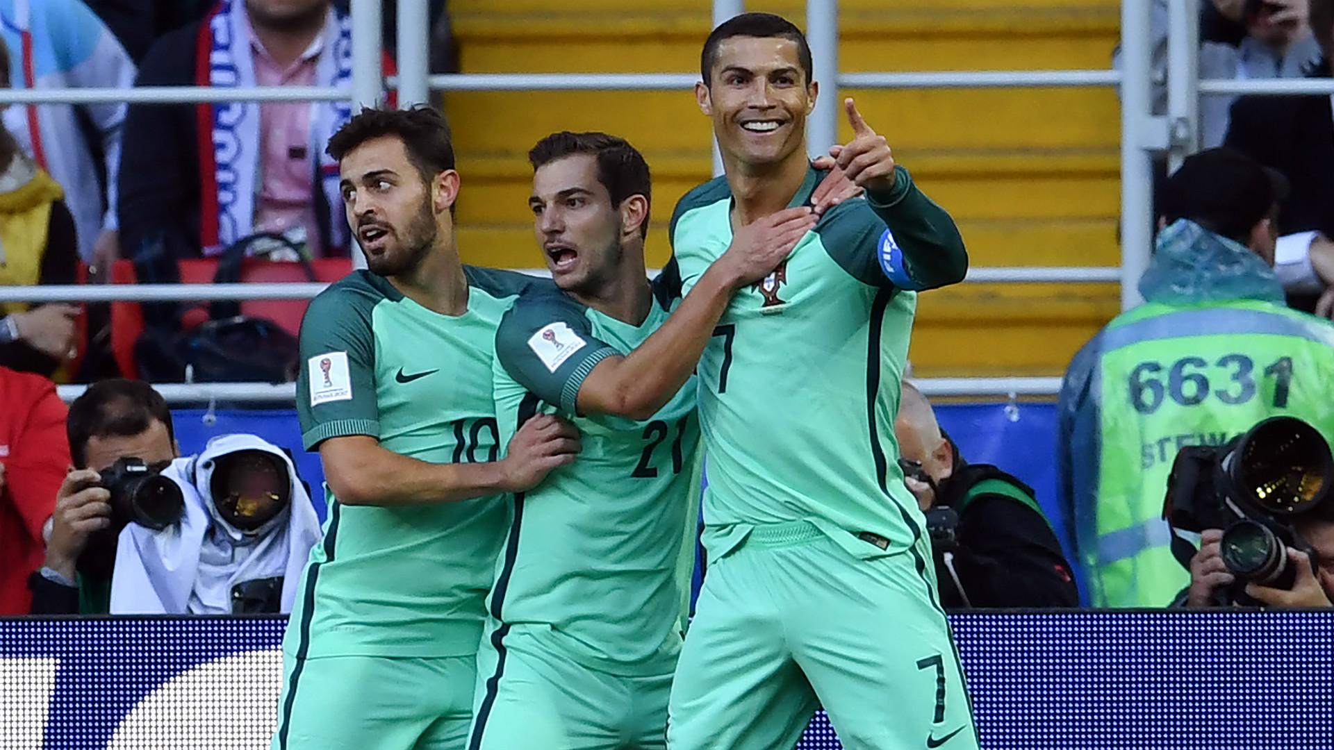 Bernardo Silva Cedric Cristiano Ronaldo Russia Portugal Confederations Cup
