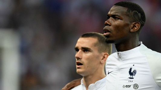 Paul Pogba Antoine Griezmann France
