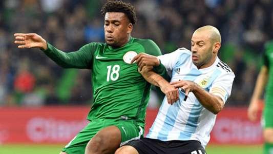 Iwobi Javier Mascherano Argentina Nigeria Friendly 14112017