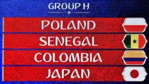 WM 2018 Spielplan Gruppe H Polen Senegal Kolumbien Japan