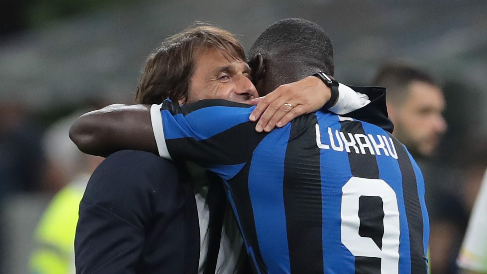 Antonio Conte Romelu Lukaku Inter