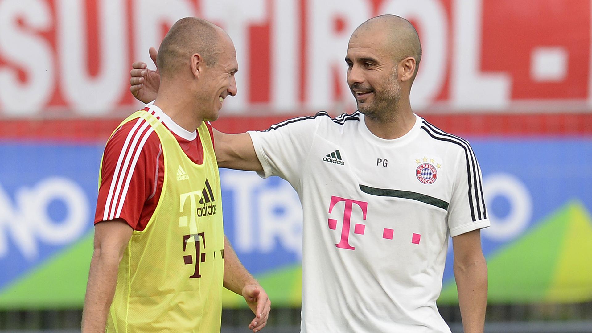 Arjen Robben Pep Guardiola FC Bayern