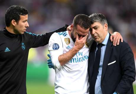 Carvajal's World Cup over as limps off after Salah